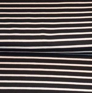 Viscose stripes zwart wit
