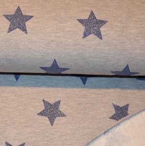 Jogging glitter stars grey