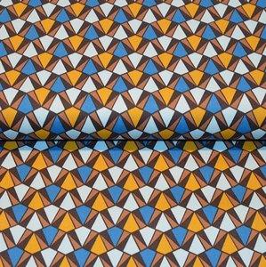 Cotton Satin Spandex - Blue