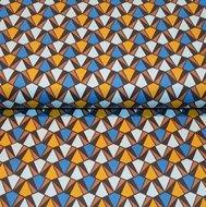 Cotton-Satin-Spandex-Blue