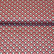 Cotton-Satin-Spandex-Seashell-Red