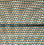Cotton-Satin-Spandex-Diamonds-petrol-orange